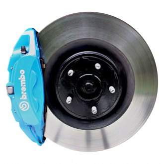 Ford Performance® - 1-Piece Plain Front Brake Kit with Brembo Calipers
