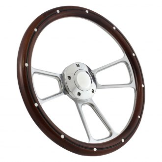 Forever Sharp® - 3-Spoke Muscle Steering Wheel with Rivets