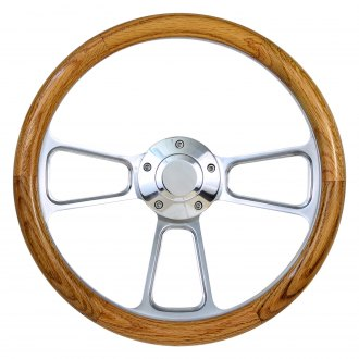 Forever Sharp® - Muscle Wood Steering Wheel with Half Wrap