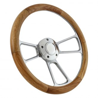 Forever Sharp® - 3-Spoke Muscle Wood Steering Wheel with Half Wrap
