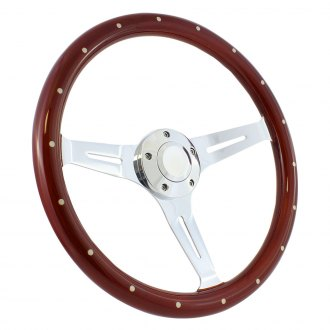 Forever Sharp® - Empire Wood Steering Wheel with Rivets