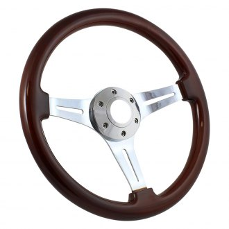 Forever Sharp® - Classic Wood Steering Wheel with Billet Horn