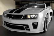Image may not reflect your exact vehicle! Forgiato® - Di Falco Retractable Headlight LED Mesh Grille - LEDs removed