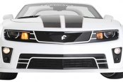 Image may not reflect your exact vehicle! Forgiato® - Di Falco Retractable Headlight LED Mesh Grille - LEDs off