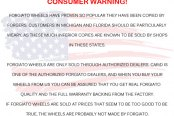 FORGIATO� - Consumer Warning