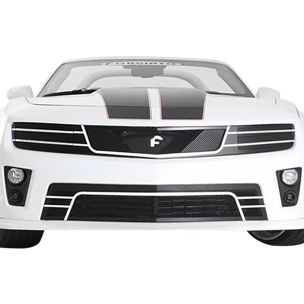 Forgiato Grilles® - Di Falco Retractable Headlight LED Black Mesh Main and Bumper Grille Kit