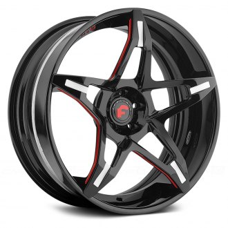 FORGIATO® - F2.14 Gloss Black with Red Trim