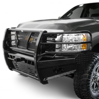 Frontier Truck Gear® - Pro Series Full Width Black Front HD Bumper with Full Grille Guard