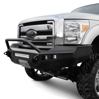 Frontier Truck Gear® - Sport Series Full Width Black Front HD Bumper with Hoop