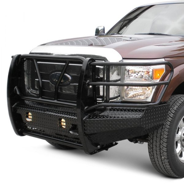 Truck Grill Guards And Bumpers : Frontier truck gear full width front hd bumper with