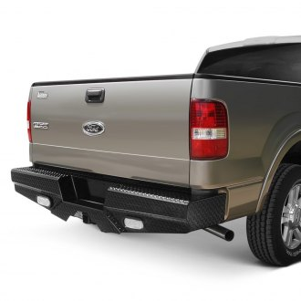 Frontier Truck Gear® - Diamond Series Full Width Black Rear HD Bumper