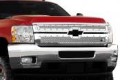 Image may not reflect your exact vehicle! FUEL® - 2-Pc Studded Polished Mesh Grille