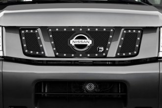 FUEL® - 3-Pc Studded Black Mesh Grille with Logo Opening