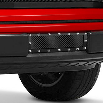 Image may not reflect your exact vehicle! Fuel Grilles® - Studded Black Mesh Bumper Grille