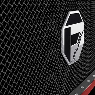 Image may not reflect your exact vehicle! FUEL® - Studded Black Mesh Grille