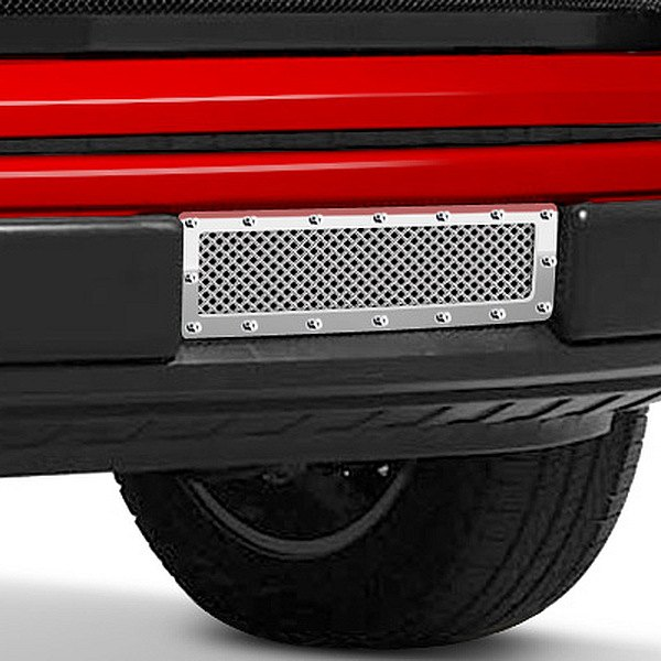 Image may not reflect your exact vehicle! Fuel Grilles® - Studded Polished Mesh Bumper Grille