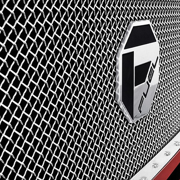 Image may not reflect your exact vehicle! Fuel Grilles® - Studded Polished Mesh Main Grille