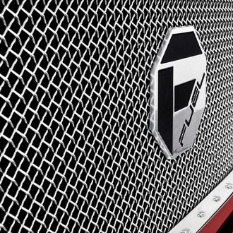 Image may not reflect your exact vehicle! FUEL® - 1-Pc Studded Polished Mesh Grille