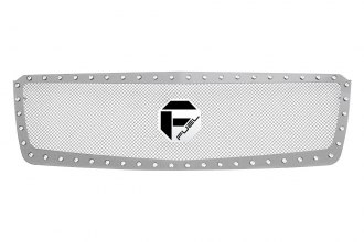 Fuel Grilles® - 1-Pc Studded Polished Mesh Grille