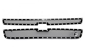 Fuel Grilles® - 2-Pc Studded Black Mesh Grille