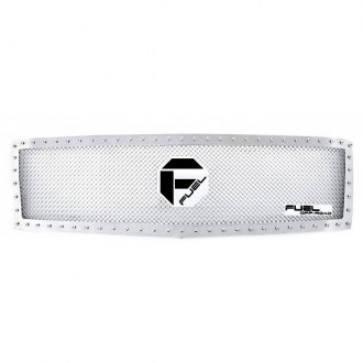 Fuel Grilles® - 1-Pc Studded Polished Mesh Main Grille