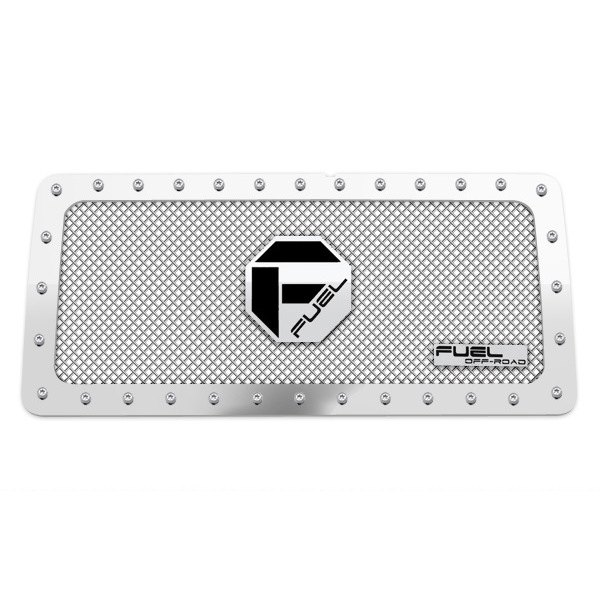 Fuel Grilles® - 1 Pc Studded Polished Mesh Main Grille