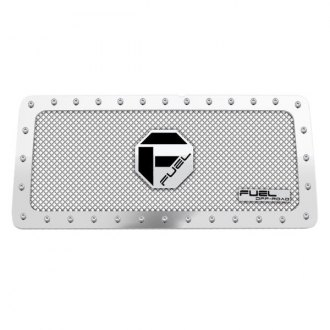 Fuel® - 1-Pc Studded Polished Mesh Main Grille