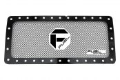 Fuel Grilles® - 1-Pc Studded Black Mesh Main Grille