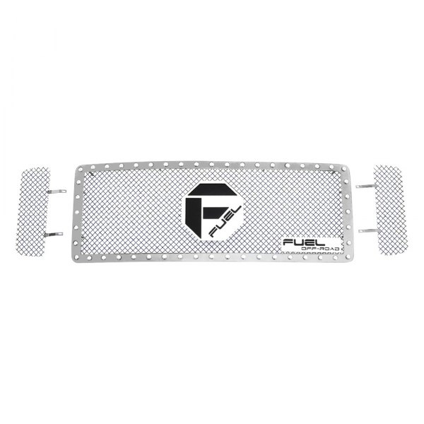 Fuel Grilles® - 3 Pcs Studded Polished Mesh Main Grille