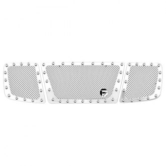Fuel® - 3-Pc Studded Polished Mesh Grille