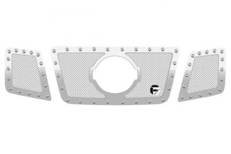 FUEL® - 3-Pc Studded Polished Mesh Grille with Logo Opening