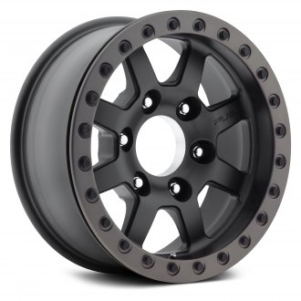 FUEL® - D105 FORGED TROPHY 1PC Matte Black with Graphite Bead Ring