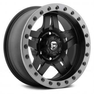 FUEL® - D106 FORGED ANZA 1PC Matte Black with Graphite Bead Ring