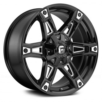 FUEL® - D622 DAKAR 1PC Gloss Black with Milled Accents