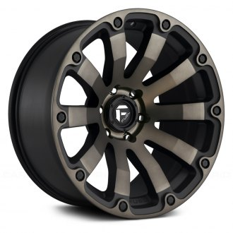 FUEL® - D636 DIESEL 1PC Matte Black with Machined Face and Double Dark Tint