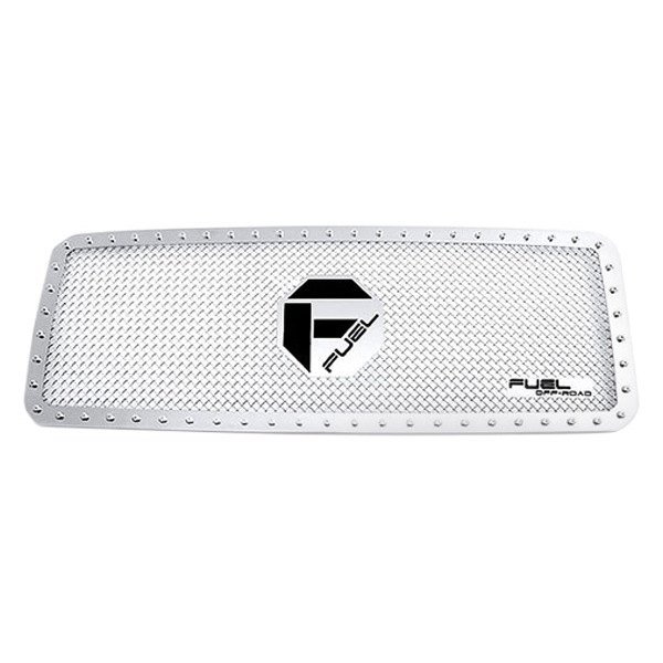 Fuel Grilles® - 1-Pc Full Opening Style Polished Studded Mesh Main Grille