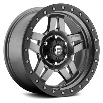 FUEL® - D558 ANZA 1PC Graphite with Matte Black Bead Ring