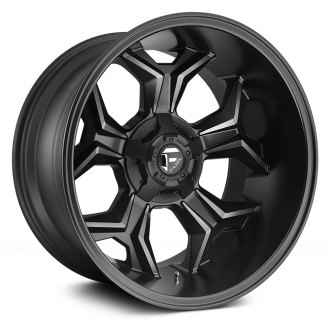 FUEL® - AVENGER 1PC Matte Black with Machined Face and Double Dark Tint