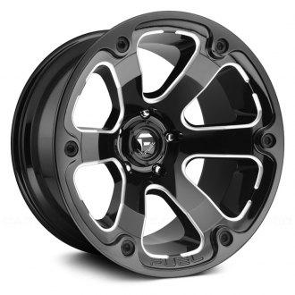 FUEL® - D562 BEAST 1PC Gloss Black with Milled Accents