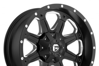 "FUEL® - BOOST Black with Milled Accents (20"" x 9"", +1 Offset, 8x165.1 Bolt Pattern, 125.2mm Hub)"