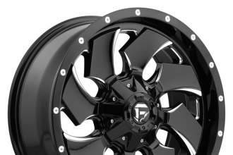 "FUEL® - CLEAVER 1PC Gloss Black with Milled Accents (18"" x 9"", +20 Offset, 6x139.7 Bolt Pattern, 106.4mm Hub)"