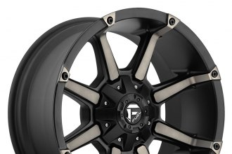 "FUEL® - COUPLER Black with Machined Face and Double Dark Tint (20"" x 9"", +1 Offset, 8x170 Bolt Pattern, 125.1mm Hub)"