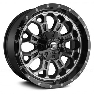 FUEL® - D561 CRUSH 1PC Matte Black with Machined Face and Double Dark Tint