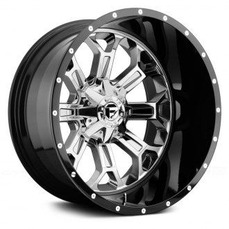 FUEL® - CRUSH 2PC FORGED CENTER Black with Chrome Face