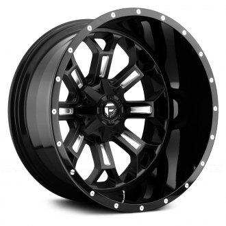FUEL® - CRUSH 2PC FORGED CENTER Black with Milled Accents