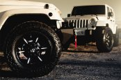 FUEL® - DUNE Black with Milled Spokes on Jeep Wrangler