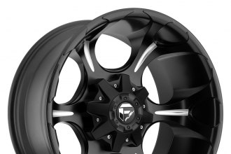 "FUEL® - DUNE DEEP LIP Black with Milled Spokes (20"" x 12"", -44 Offset, 8x170 Bolt Pattern, 125.2mm Hub)"