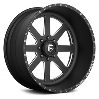 FUEL® - FF09 Matte Black with Milled Accents