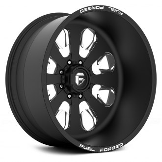 FUEL® - FF24 Matte Black with Milled Accents