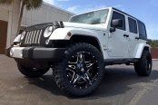 FUEL® - FULL BLOWN 1PC Gloss Black with Milled Accents on Jeep Wrangler